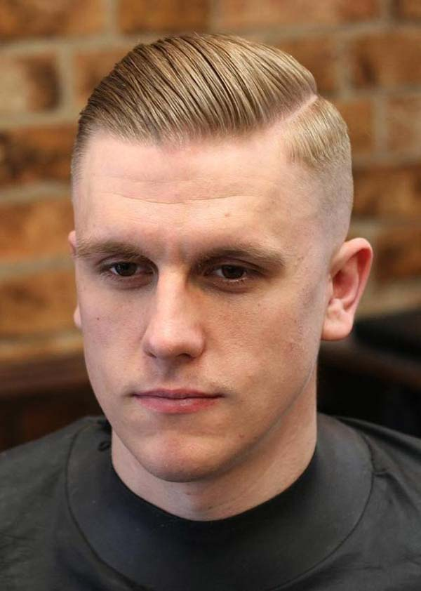 Classic Side Swept High Taper Fade Haircut