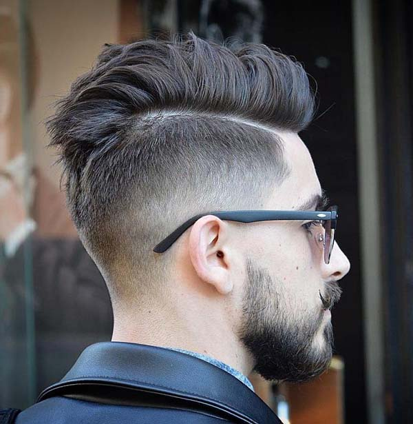 Comb Over Mohawk Taper Haircuts