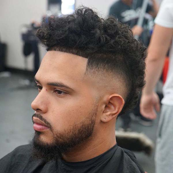 Curly Top High Taper Fade Haircut