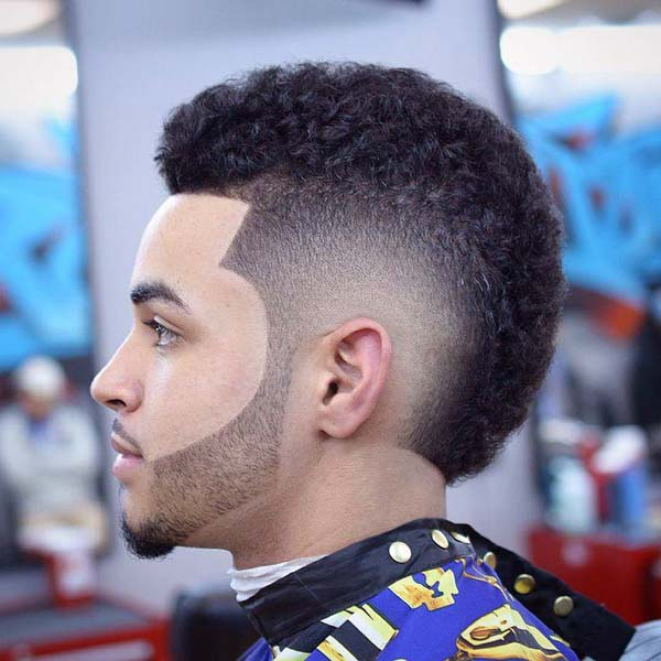 High Taper Fade Mohawk Haircut