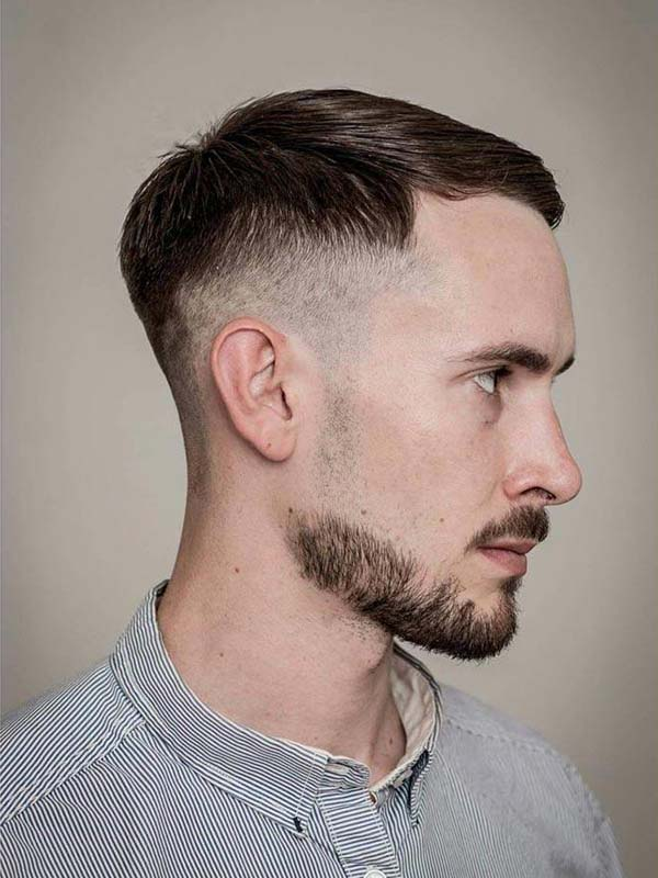 High Taper Haircut with Classic Side Swept