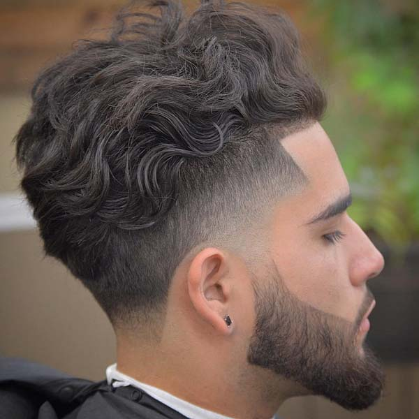 Low Taper Mohawk Haircut with Beard