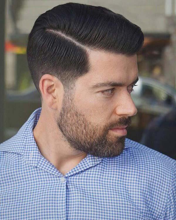 Modern Short Pompadour Haircut