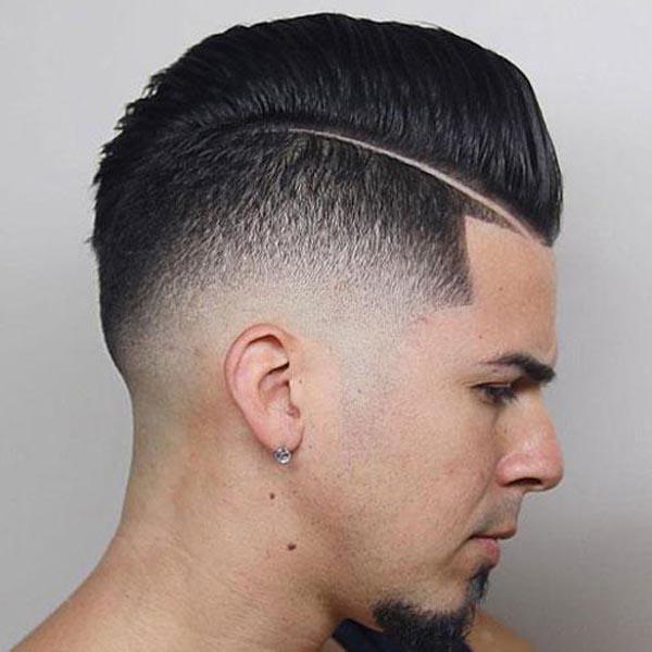 Modern Side Part Pompadour Haircut