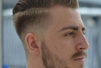 Pompadour High Taper Haircut with Beard