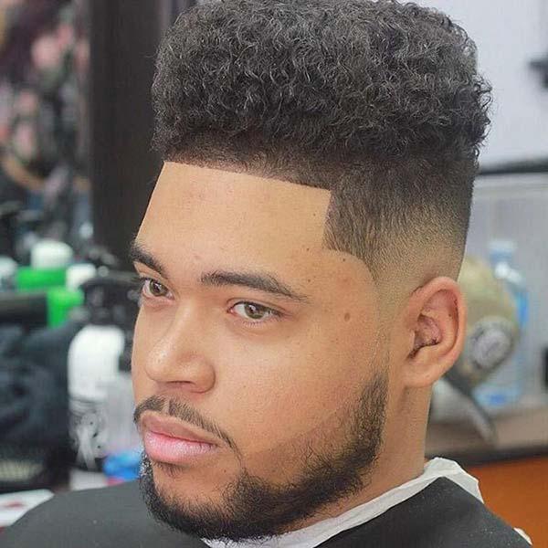 Sharp Taper Fade Haircut Afro