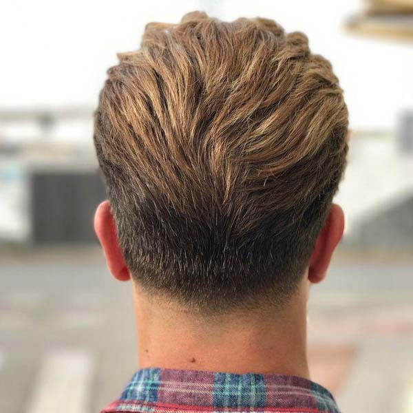 Short Tapered Haircut Back View