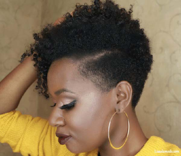 Short Tapered Haircuts for Natural Sculpted Hair