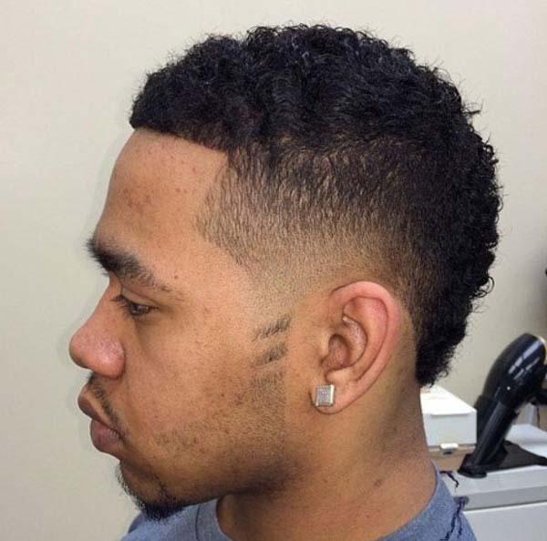 Subtle Taper Fade Haircut for Black Hair