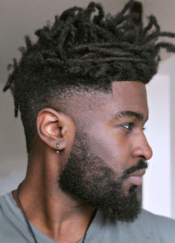 Taper Fade Haircut with Dreads