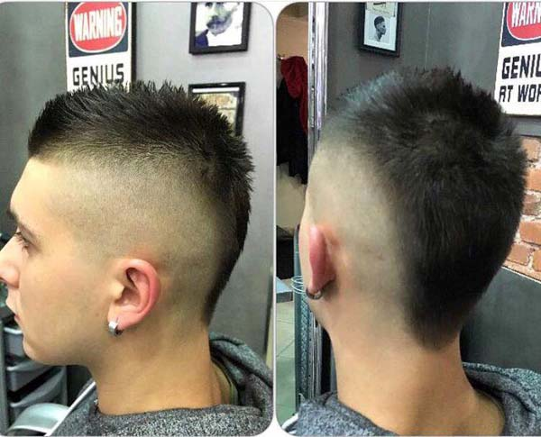 Taper Mohawk Haircut 2020