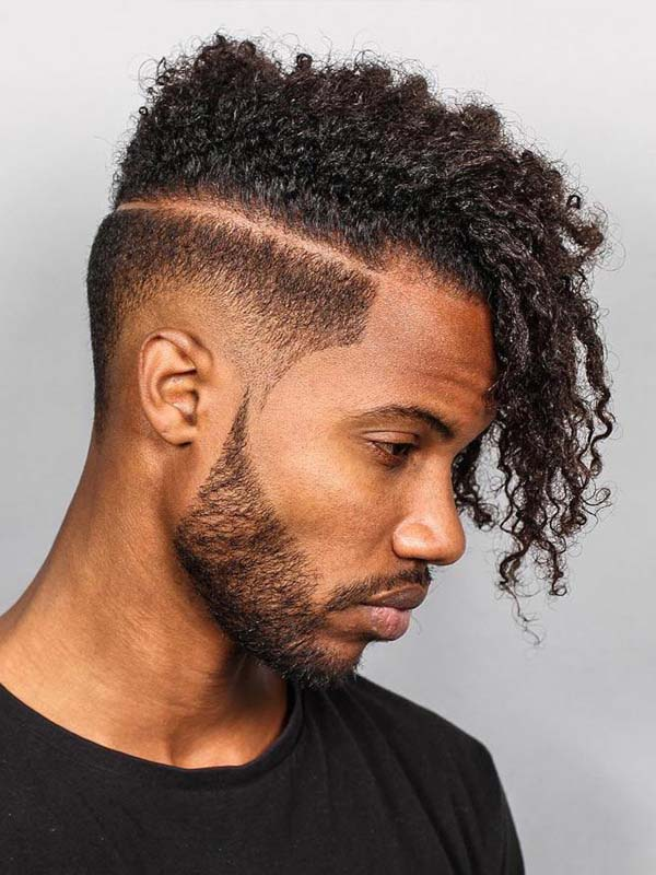 Twist Taper Fade Haircut for Black Hair