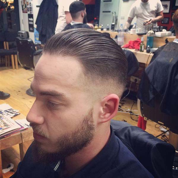 Vintage Slick Back High Taper Fade Haircut