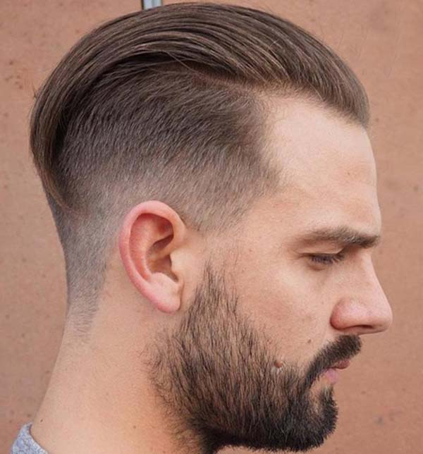 Vintage Slick Back with High Taper Fade Haircut