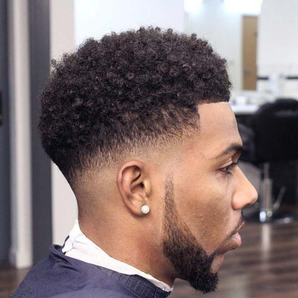 All around Low Taper Haircut with Beard
