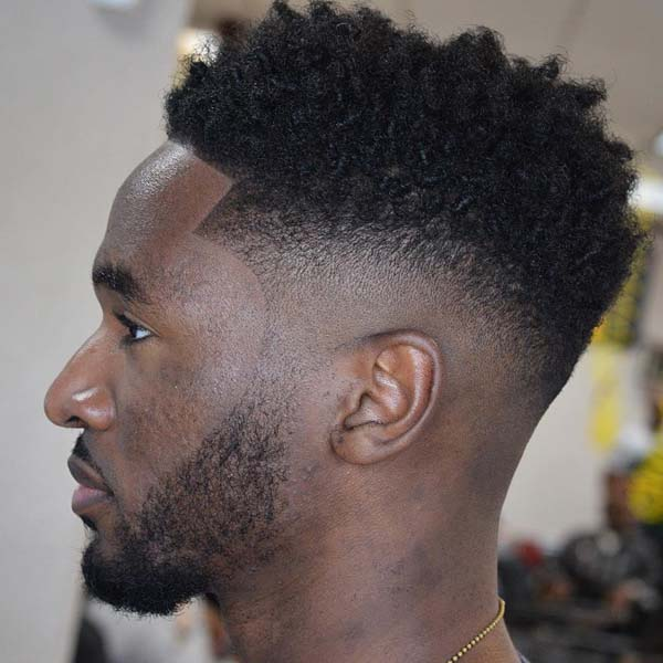 All around Taper Fade Haircut for Men