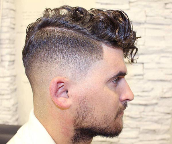 Bald Taper Fade Haircut with Curls