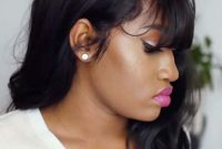 Black Women Hairstyles with Bangs for Thick Hair