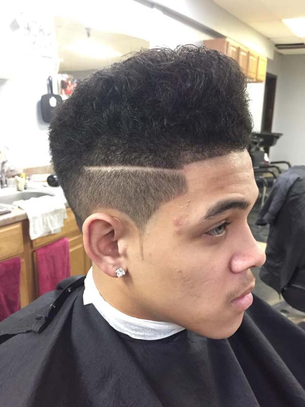 Box Shadow Fade High Taper Haircut
