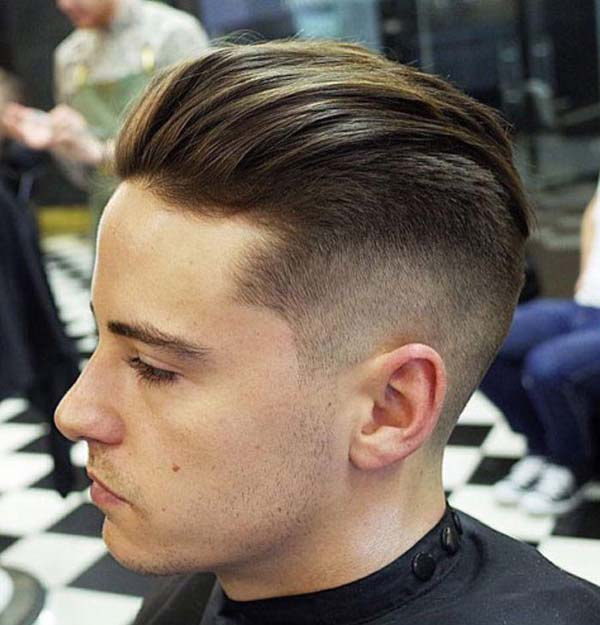 Brushed G Eazy Haircut Style with Fade