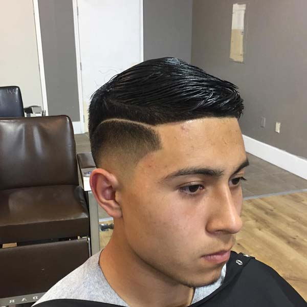 Bushy Comb Over Low Fade Haircut