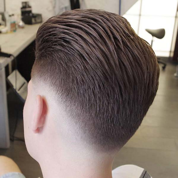 Classic All around Taper Haircut Back Brushed