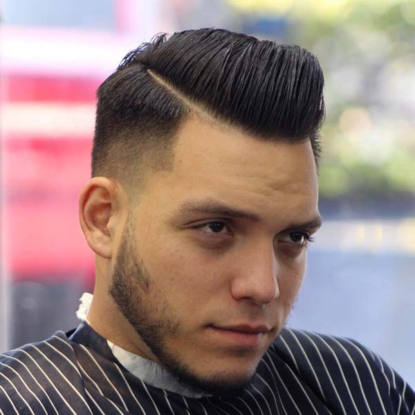 Comb Over Low Fade Haircut