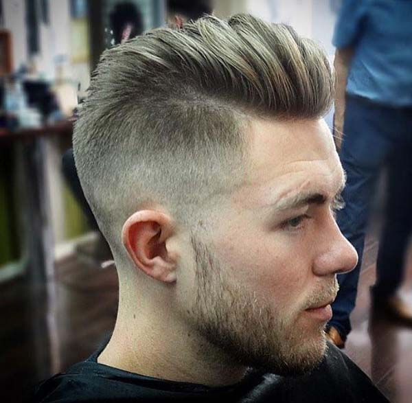 Comb Over Low Skin Fade Haircut