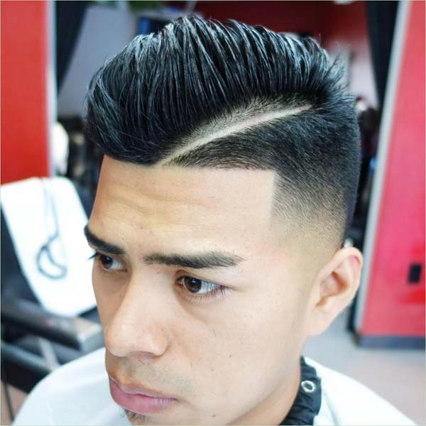 Comb Over Low Taper Fade Haircut