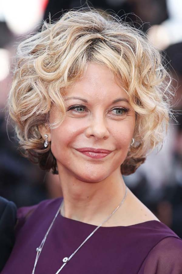 Easy Short Curly Hairstyles for Women Over 50