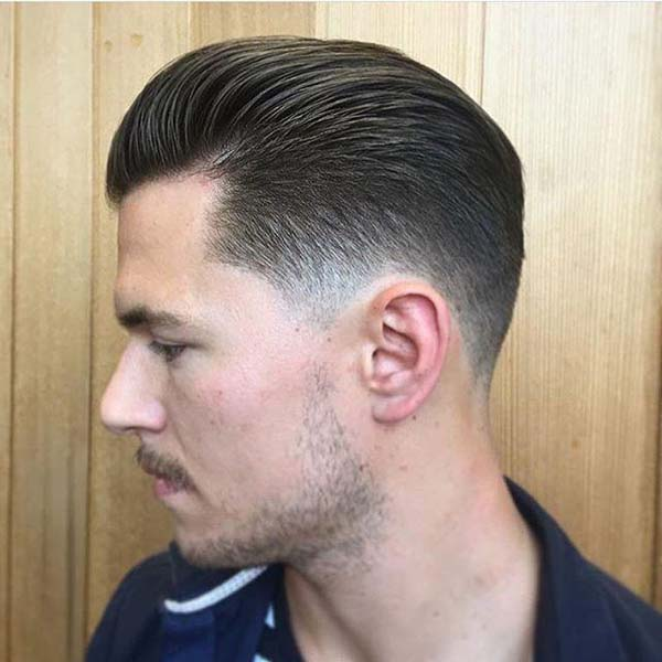Fade Brushed Up Haircut