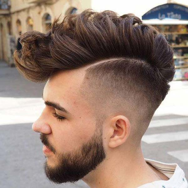 High Taper Fade Mohawk Haircut for Men