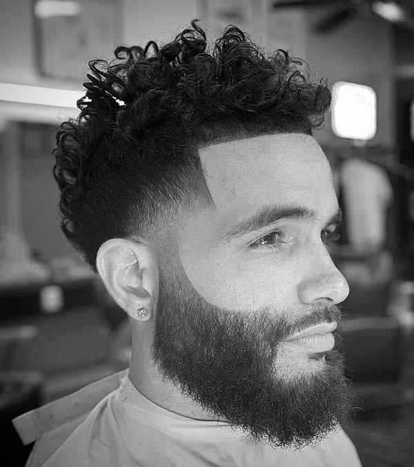 Low Taper Fade Curly Haircut