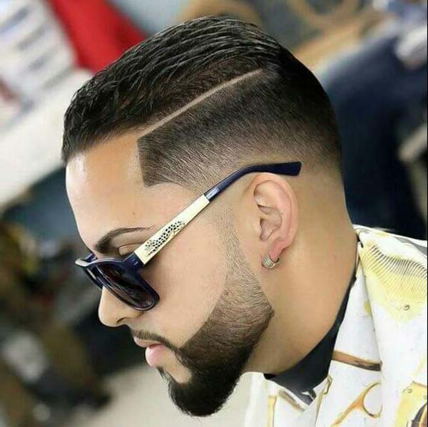 Low Taper Haircut Styles with Beard