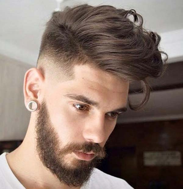 Low Taper Haircut with Beard