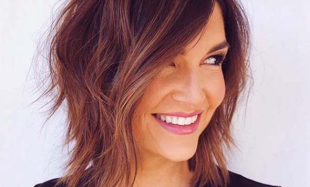 Medium Short Hairstyles with Layers and Fine Hair