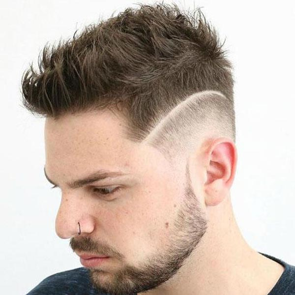 Messy Comb Over Low Fade Haircut
