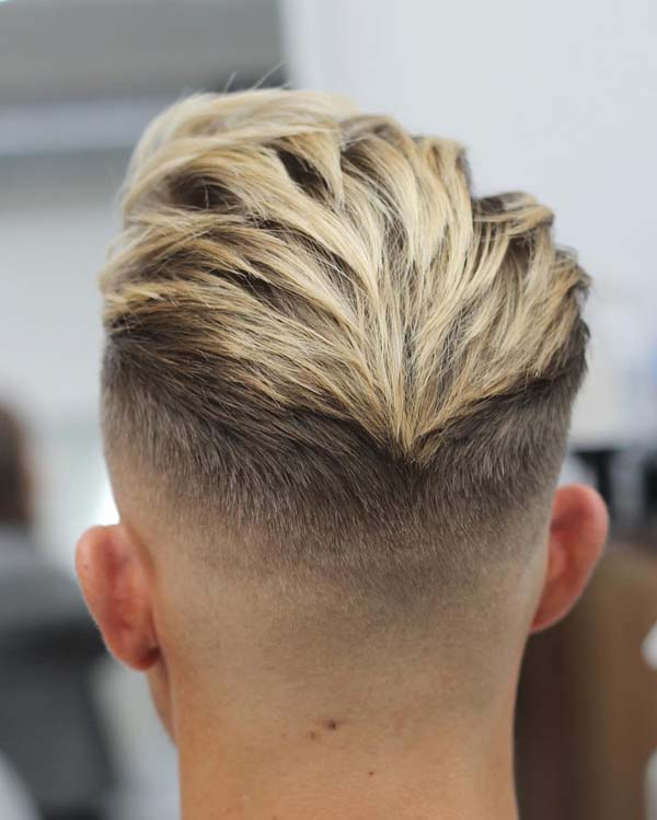 Messy Comb Over Taper Haircut
