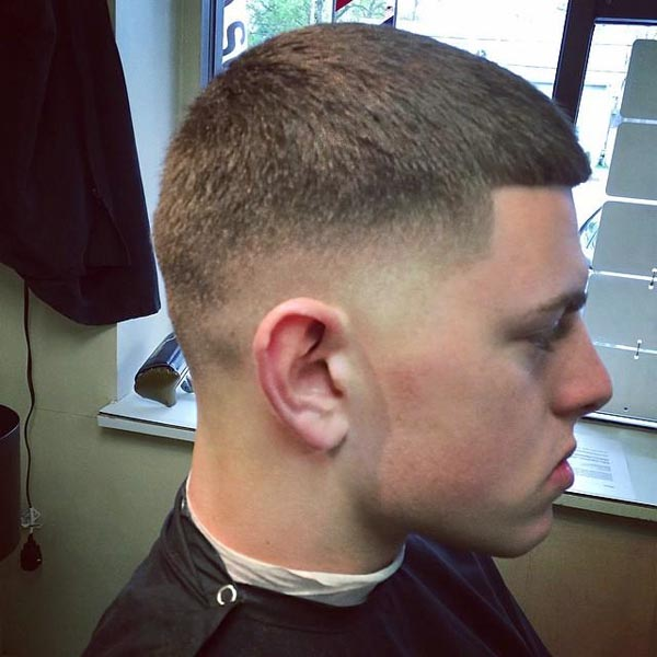 Mid Caesar Taper Fade Haircut