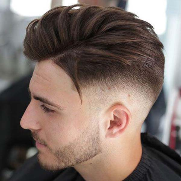 Mid Comb Over Taper Fade Haircut