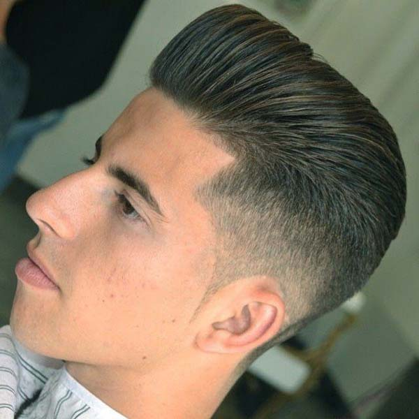Mid Fade Haircut with High Top