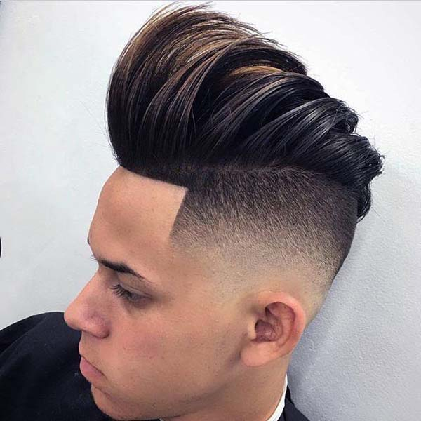 Mid Fade Haircut with Long Top