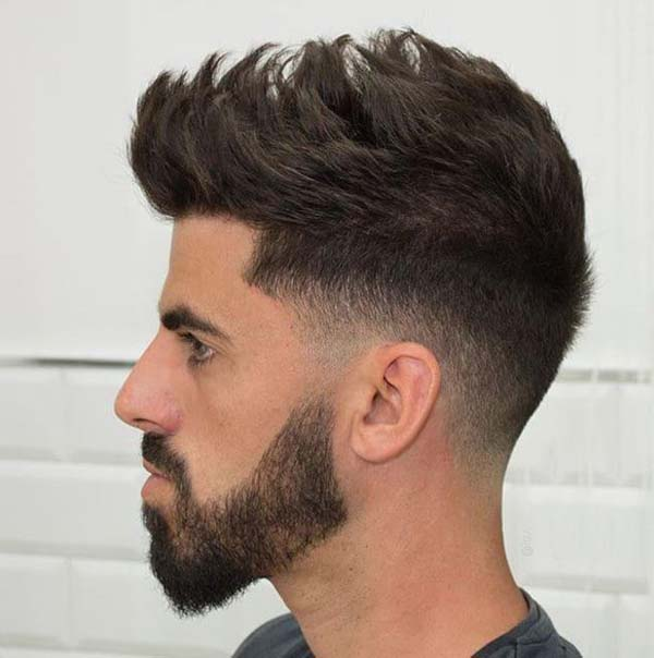 Mid Taper Fade Haircut for Men