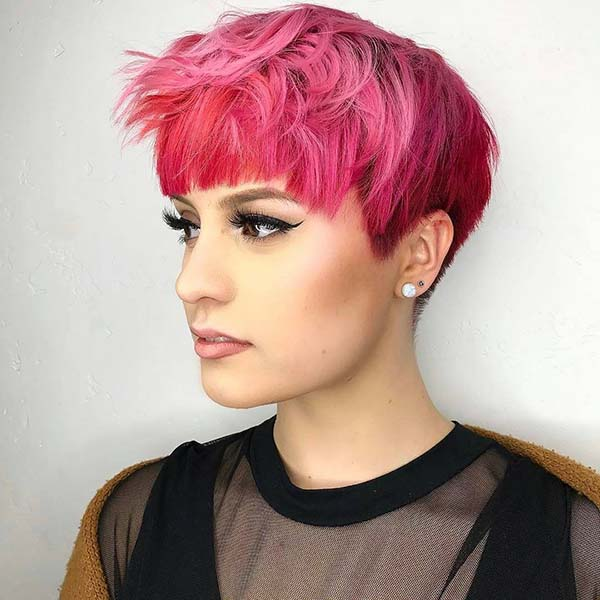 Modern Short Funky Hairstyles with Bangs