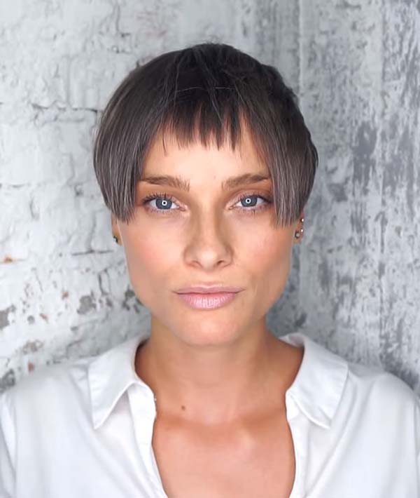 Modern Super Short Hairstyles for Women with Bangs