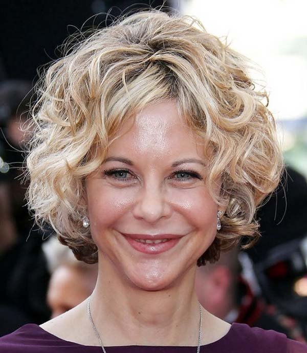 New Short Curly Hairstyles for Women Over 50