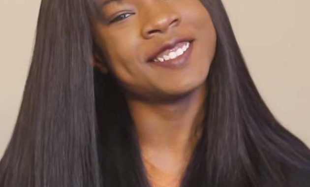 Sew-In Hairstyles for Black Women with Bangs 2020