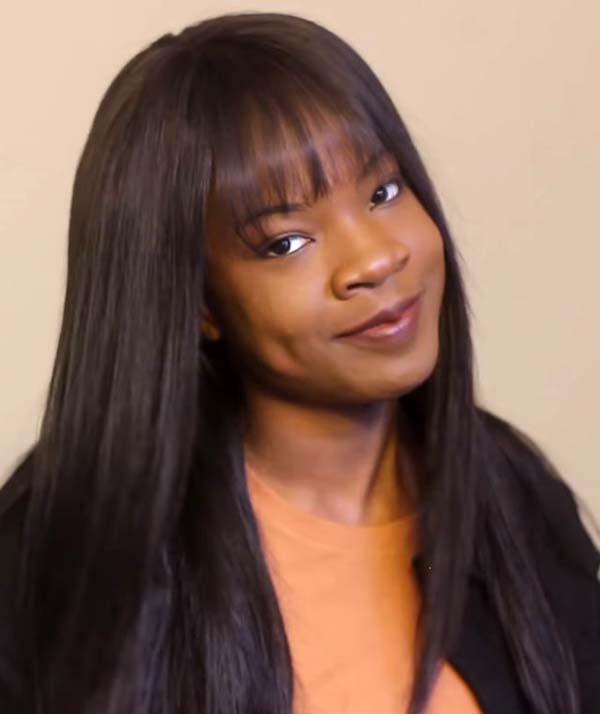 Sew-In Hairstyles for Black Women with Bangs