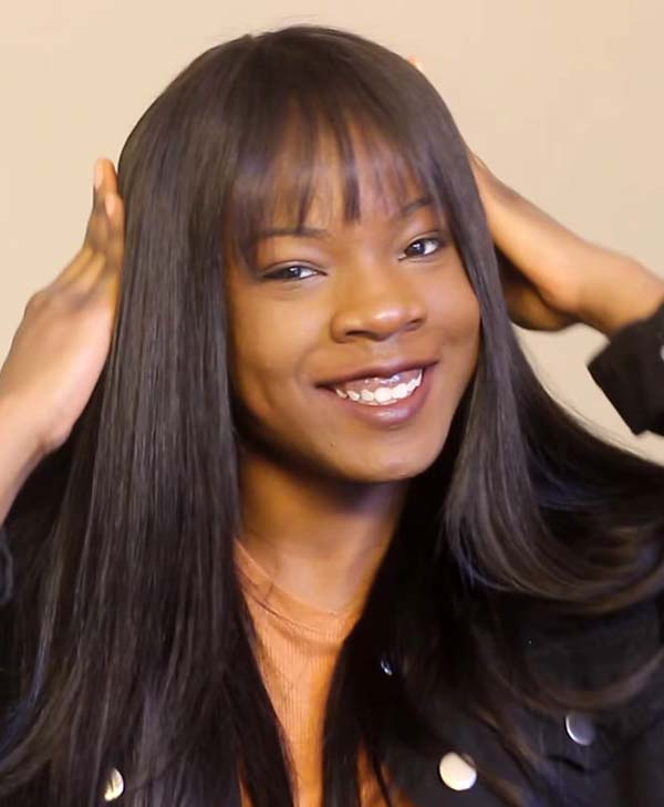 Sew-In Hairstyles for Black Women with Straight Hair and Bangs