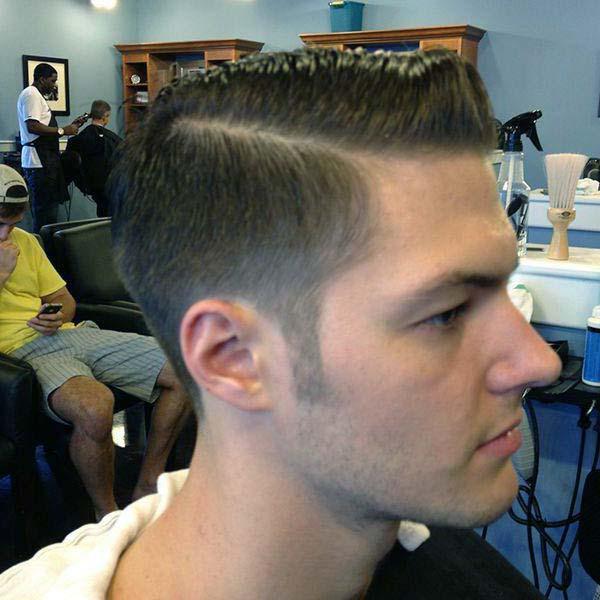 Short Comb Over Taper Haircut